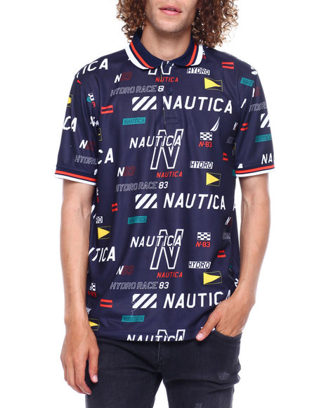 Nautica - All over Logo Polo