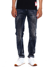 Jeans - CUT AND SEW PANEL MOTO JEAN-2375582