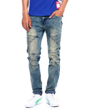 Jeans & Pants - CUT AND SEW PANEL MOTO JEAN-2375567