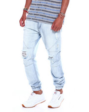 Jeans & Pants - Distressed Seamed Jeans Bleach Wash-2374988