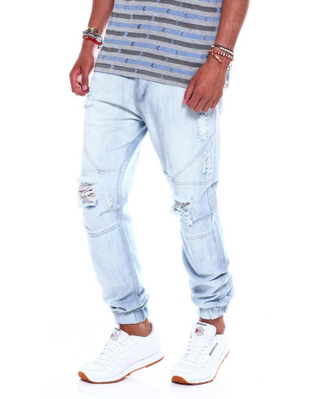 Buyers Picks - Distressed Seamed Jeans Bleach Wash