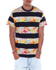 T-Shirts - Animal Print Floral Stripe Tee-2376282