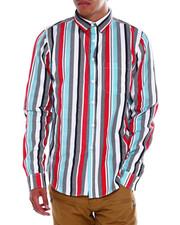 Button-downs - LS Checkerboard Stripe Buttondown Shirt-2376387