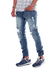 Jeans & Pants - Distressed Seamed Jeans Antique Wash-2374972
