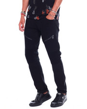 Jeans & Pants - Twill KNEE DETAIL Moto Pant with Zipper-2376155