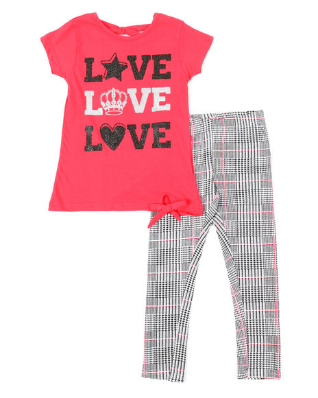 La Galleria - 2 Pc Top & Leggings Set (7-16)