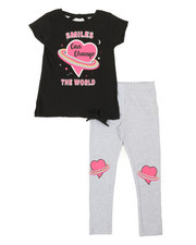 Girls - 2 Pc Top & Leggings Set (4-6X)-2374060