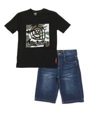 Akademiks - 2 Pc Tee & Denim Shorts Set (8-20)-2376535