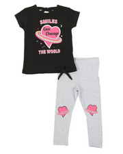 Girls - 2 Pc Top & Leggings Set (2T-4T)-2374056