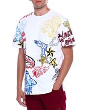 T-Shirts - GALAXY ASTRONAUT DOODLE TEE-2376310