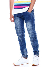 Jeans & Pants - Stretch Moto Jean w cut and Sew Detail-2376014