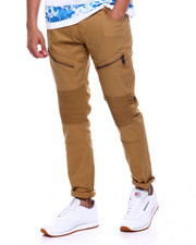Jeans & Pants - Twill KNEE DETAIL Moto Pant with Zipper-2376140