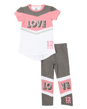 Sizes 2T-4T - Toddler - 2 Pc Athleisure Top & Leggings Set (2T-4T)-2376898