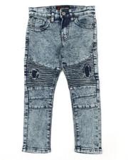 Sizes 4-7x - Kids - Fashion Cut & Sew Moto Denim Jeans (4-7)-2377158