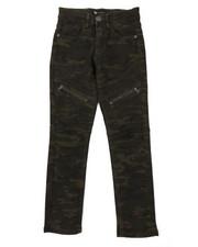 Jeans - Camo Moto Jeans W/ Zipper Detail (8-20)-2377211