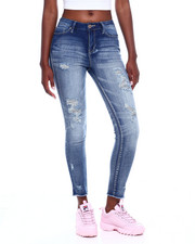 Jeans - Destructed High Rise Raw Edge Skinny Jean-2377018
