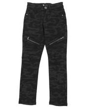 Boys - Camo Moto Jeans W/ Zipper Detail (8-20)-2377203