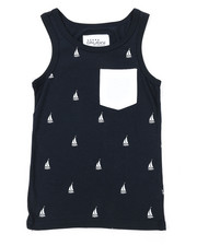 Tops - Sailboat Print Tank Top (8-20)-2377074