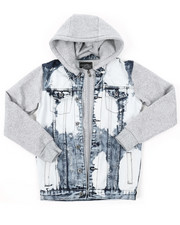 Arcade Styles - Hooded Denim Jacket (8-20)-2377044