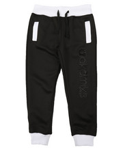 Track Pants - Two Tone Neoprene Joggers (2T-4T)-2377135