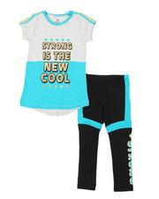 La Galleria - 2 Pc Athleisure Top & Leggings Set (7-16)-2376888
