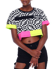 Black Pyramid - Optical Crop Top-2375744