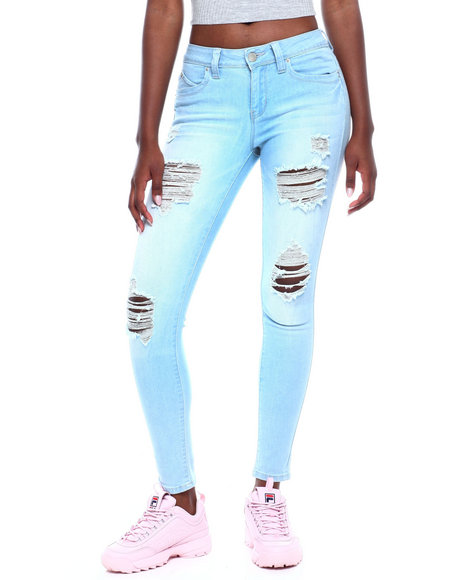 YMI Jeans - Betta Butt Destructed 5 Pkt Skinny Jean