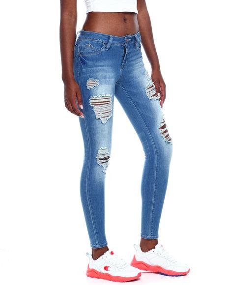 YMI Jeans - Betta Butt Destructed 5 Pkt Skinny Jean