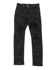 Boys - Camo Denim Jeans W/ Rip & Repair Detail (8-20)-2377163