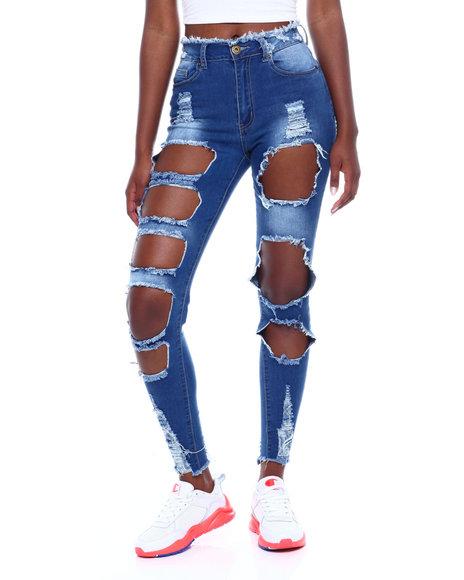 Red Fox - Heavy Ripped Skinny Jean