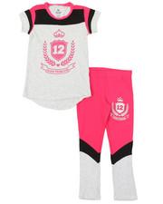 La Galleria - 2 Pc Athleisure Top & Leggings Set (7-16)-2377005