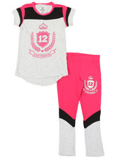 Girls - 2 Pc Athleisure Top & Leggings Set (4-6X)-2377001