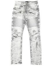 Jeans - Pleated Knee Moto Jeans (8-20)-2377171