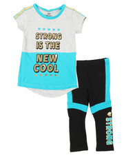 Sizes 2T-4T - Toddler - 2 Pc Athleisure Top & Leggings Set (2T-4T)-2376772