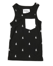 Tops - Sailboat Print Tank Top (8-20)-2376715