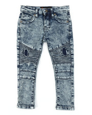 Sizes 2T-4T - Toddler - Fashion Cut & Sew Moto Denim Jeans (2T-4T)-2377585