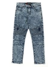 Jeans - Fashion Cut & Sew Moto Denim Jeans (8-18)-2377589