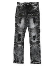 Jeans - Moto Jeans W/ Zipper Detail (8-20)-2377633