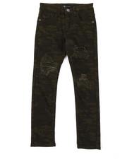 Jeans - Camo Denim Jeans W/ Rip & Repair Detail (8-20)-2377625