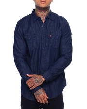 Levi's - MATTHEW DENIM BUTTONFRONT SHIRT - HEAVY RINSE-2377410