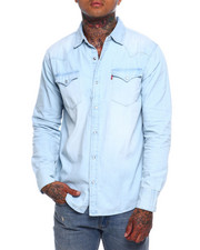 Levi's - STANDARD WESTERN SHIRT - WASHED BLUE-2377420