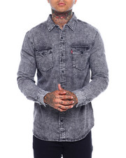 Levi's - MATTHEW DENIM BUTTONFRONT SHIRT - LIGHT GRAY-2377390