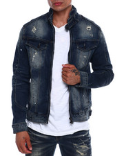 SMOKE RISE - Moto Denim Jacket-2377887