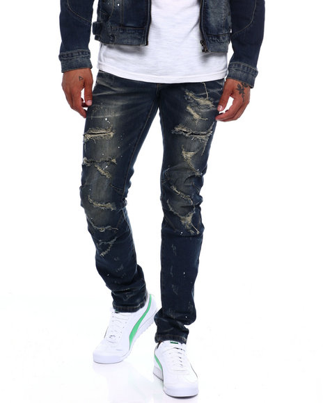 SMOKE RISE - SLIM DISTRESSED JEAN