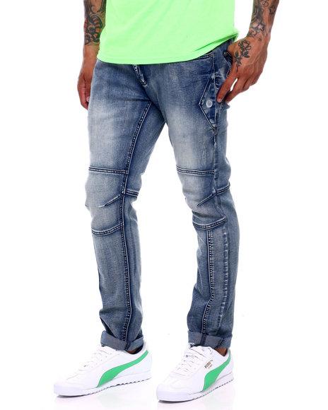 Buyers Picks - Med Blue Articulated Knee Jean