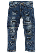 Sizes 2T-4T - Toddler - Washed Rip & Repair Moto Stretch Denim Jeans (2T-4T)-2378459