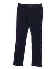 Bottoms - Heart Studs Skinny Jeans (7-14)-2378449