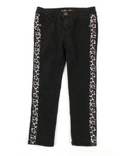 Girls - Leopard Tape Skinny Jeans (4-6X)-2378426
