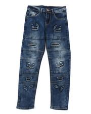 Bottoms - Rip & Repair Moto Stretch Denim Jeans (8-18)-2378186