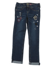 Girls - Aniimal Patch Convertible Skinny Jeans (7-14)-2378140